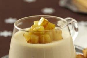 Panacotta aux pommes Reinette du Vigan et au miel de châtaignier