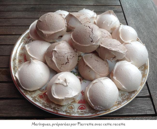 La meilleure recette de meringues : la recettes de meringues de Chantal
