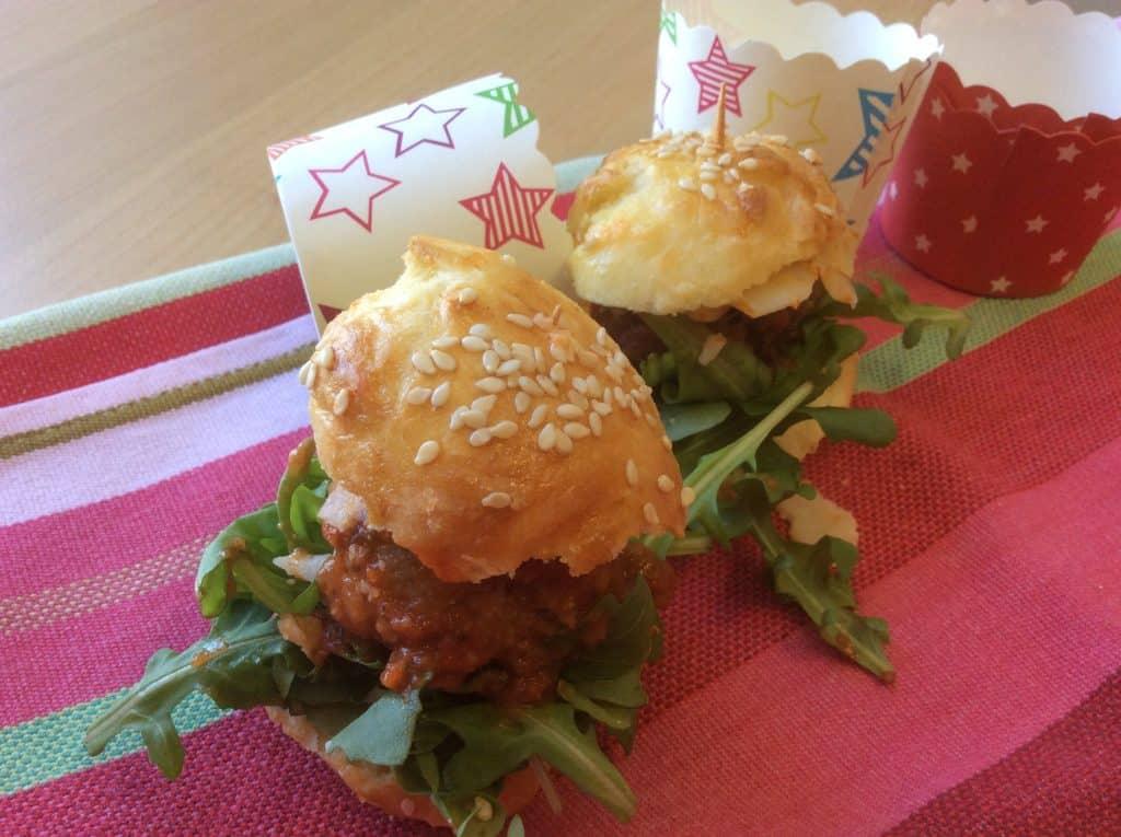 recette de burger roquette boulette parmesan