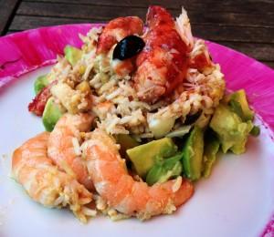 La recette de la salade de riz à ma façon, presque comme en Camargue