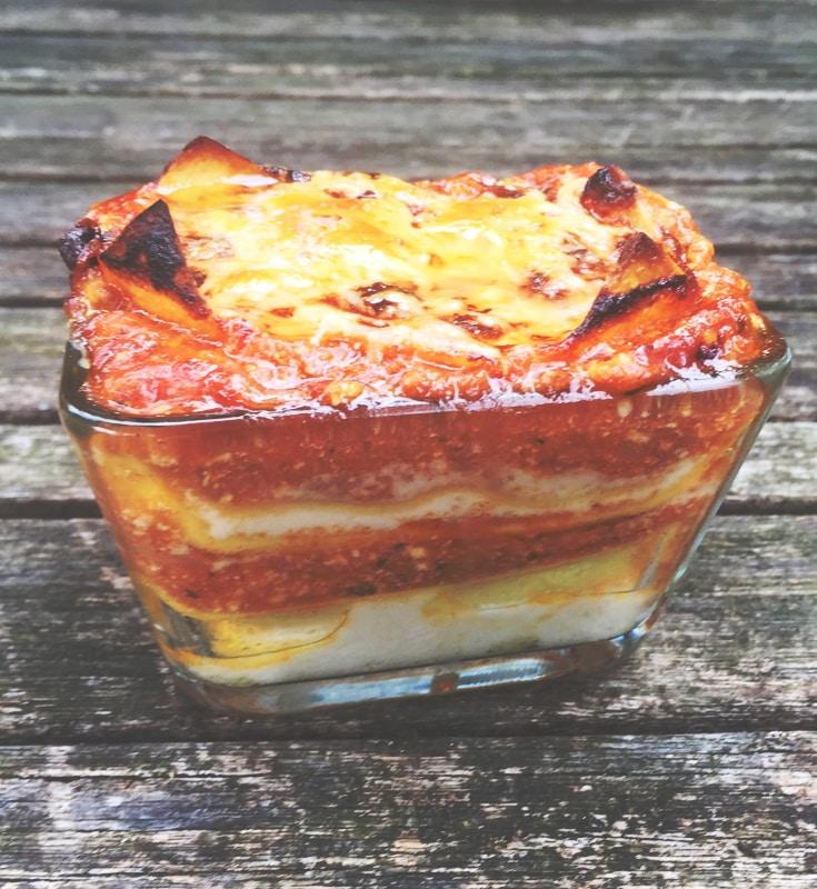 Gros plan sur mes lasagnes extra gourmandes à la brousse ou au brocciu... si c'est la saison bien sûr !