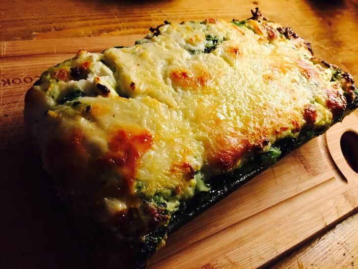 lasagnes chèvre épinards blettes broccio et parmesan
