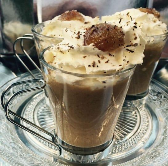 cappuccino cèpes châtaignes