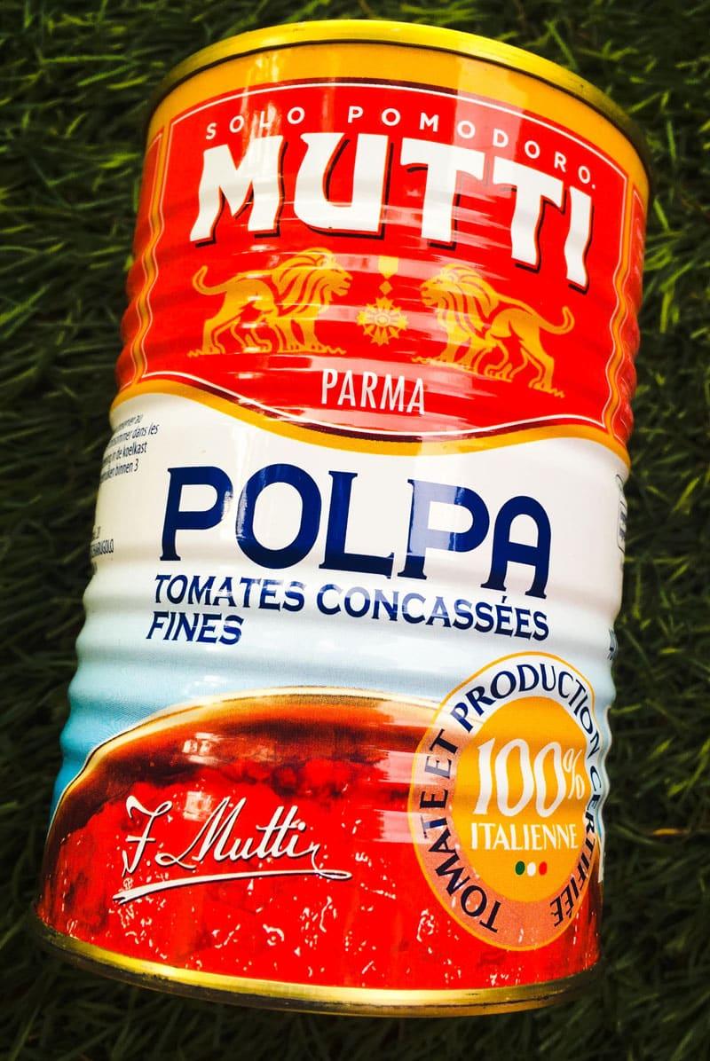 Pulpe de tomates concassées Mutti