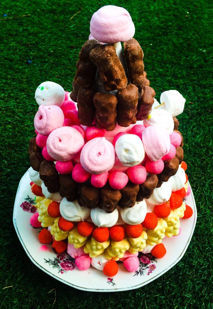 gâteau de bonbons nounours guimauve tagada