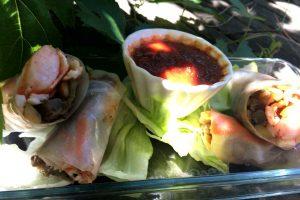 """Rouleaux de printemps aux légumes grillés, gambas ou surimi """"côté sud"""" de Carole"""