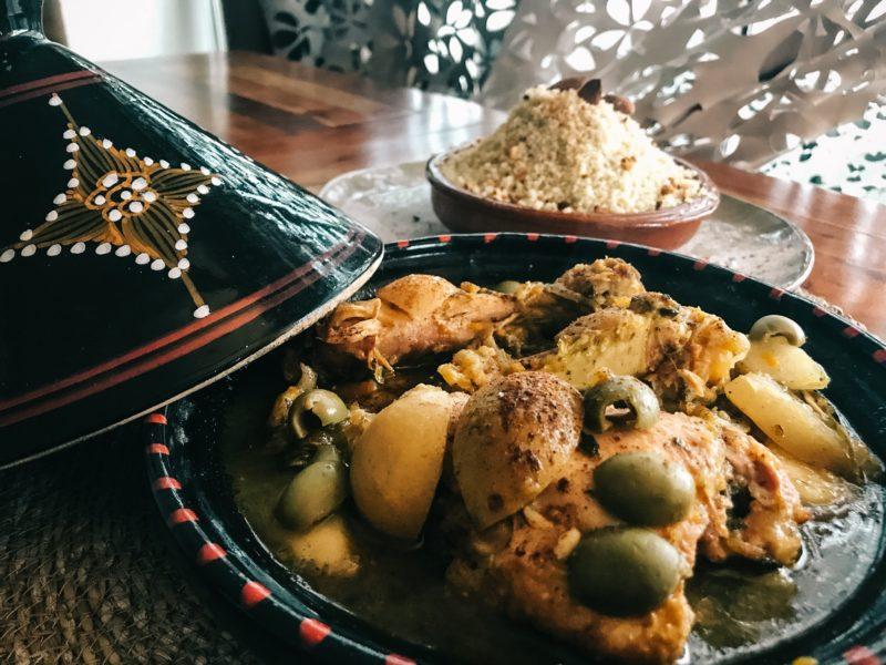 poulet citron confit olives patisson